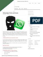WhatsApp Tricks and Hacks _ FRESH TRIX
