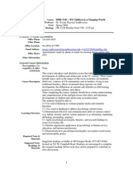 UT Dallas Syllabus for ishd3343.501.08s taught by Jacoba Vanbeveren (jtv013100)