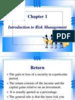 Chpt 01 Introduduction to Risk Manangement
