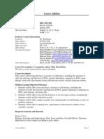 UT Dallas Syllabus for biol3351.001.08s taught by Gail Breen (breen)