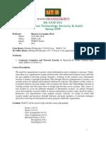 UT Dallas Syllabus for ba4330.501.08s taught by Huseyin Cavusoglu (huseyin)
