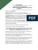 UT Dallas Syllabus for eco6314.001.08s taught by Kurt Beron (kberon)