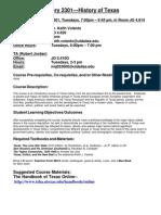 UT Dallas Syllabus for hist2301.501.08s taught by Keith Volanto (kjv062000)