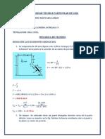 ejercicios resueltos de centro de gravedad  Mecánica de Fluidos