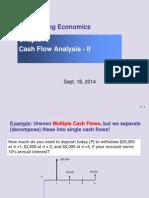 Lec Sept 18 Ch3 Lec Cash Flow Analysis II