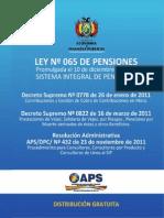 Ley 065 de Pensiones