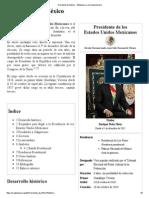 Presidente de México - Wikipedia, La Enciclopedia Libre