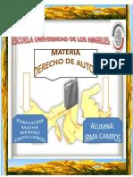 Materia Derecho de Autor