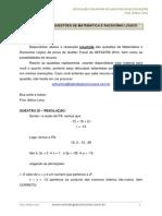 Resolução Da Prova Auditor MATEMÁTICA