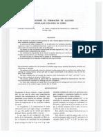 CONDICIONES DE FORMACION DE ALGUNOS MINERALES OXIDADOS DE COBRE