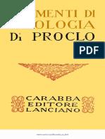 Proclo - Elementi Di Teologia