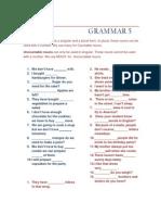 Grammar Unit 5