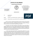 Initial Review by Colorado Legislative Council of Proposed Initiative Measure 2009-2010 No. 20, On Civil Unions, Issued 05-08-09