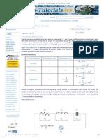 Series RLC Circuit Analysis and RLC Series Circuits