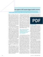 Discrimination Against LGBT People Triggers Health Concerns