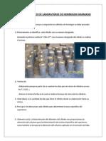 Tabla de rotura de cilindro Laboratorio de Hormigon Harmado