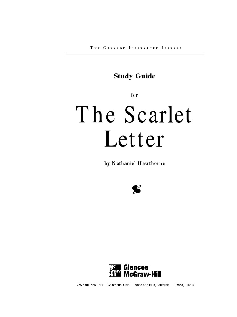 an analysis of nature in the scarlet letter by nathaniel hawthorne Nathaniel hawthorne (/  it was fields who convinced hawthorne to turn the scarlet letter into a novel  and human nature, series of essays on hawthorne stories.