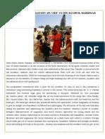 Report on Swami Ramdevji Visit on 11 Nov 14