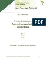 Unidad 1. Operaciones Unitarias