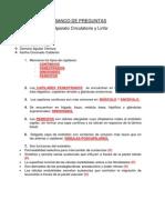 Banco vde Preguntas Sobre Aparato Circulatorio y Linfa.