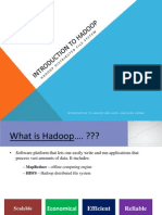 Introduction to Hadoop and HDFS