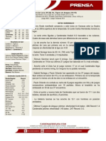 Boletín de Prensa 37 Cardenales-Tigres