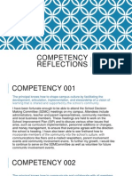administrator competency reflections