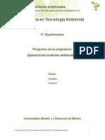 Unidad 3. Aplicaciones de Las Operaciones Unitarias en Lo Ambiental