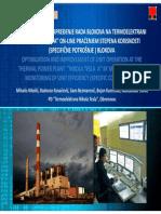 Optimizacija i Unapređenje Rada Blokova Na Termoelektrani