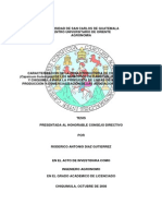Caracterizacion de La Zona Productora de Chile Pimiento Capsicum Frutescens de Los Municipios de Camotan i