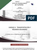 Unidad 4 Sitemas Para La Transportacion y d. Fisica