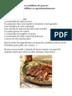 Marinada BBQ Para Costillitas de Puerco