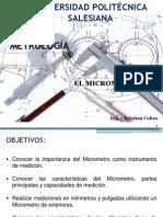 3.- Metrologia - El Micrometro