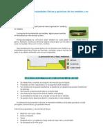 Características y Propiedades de Los Metales y No Metales