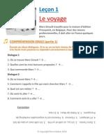 Lecon 1 Le Depart