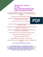 Control de Asistencia Y Horario Biométrico TC 200