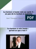 La Lecture à Haute Voix Cycle 3