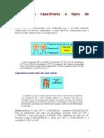 Tabela da Parte Prática Capacitores