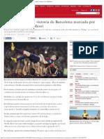 Bravo Participa en Victoria de Barcelona Marcada Por Nuevo Récord de Messi _ Dep