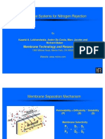Membrane Systems for Nitrogen Rejection