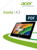 Acer Iconia a3 Manual
