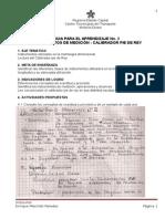 Guía No. 2 - Instrumentos de Medición - Pie de Rey