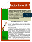 Easter 2013 Newsletter