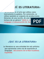 Qué Es Literatura y Géneros Jun2013