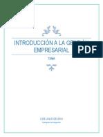 Introduccion a La Gestion Empresarial