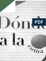 Donde Va La Coma Fernando Avila