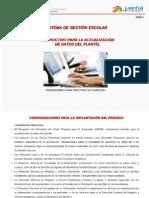 Instructivo Sige Para Directores Actualización de Datos Del Plantel
