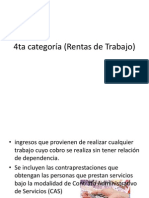 4ta Categoría (Rentas de Trabajo)