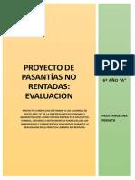 Evaluacion Del Proyecto de Pasantias No Rentadas
