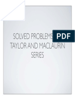 Taylor and Maclaurin Series